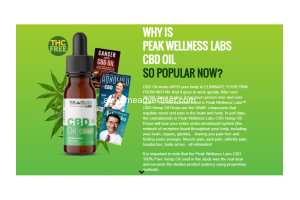 Peak Wellness CBD Oil- Quality Oil. Quality Service!